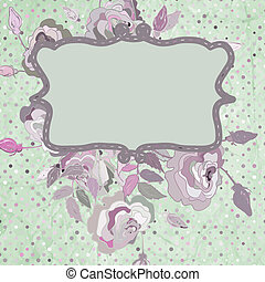 Vintage background flower template. EPS 8