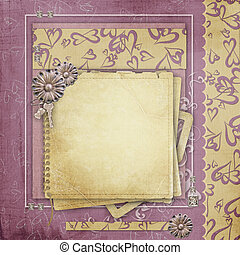 Vintage background for congratulations and invitations with space for photo or text