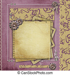 Vintage background for congratulations and invitations with...