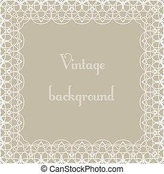 Vintage background, frame