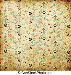 vintage background from grunge paper with retro pattern
