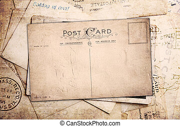 Vintage background from old post cards