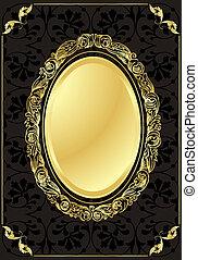 Vintage background golden frame