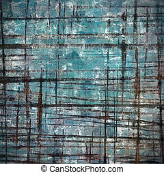 Vintage background in scrap-booking style, faded grunge texture with different color patterns: brown; blue; black; cyan; white