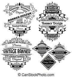 Vintage background label Design Template
