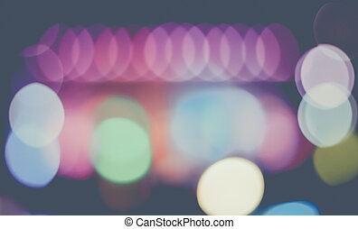 Vintage Background Made of Colorful Bokeh