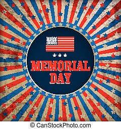 Vintage Background Memorial Day