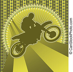 Vintage background motorcyclist