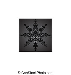Vintage background ornament, black star