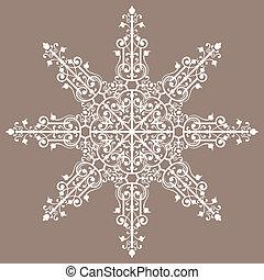 Vintage background ornament, lace star