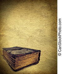 Vintage Background - Vintage Paper template with an Old Book