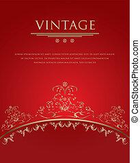 Vintage background - red vector