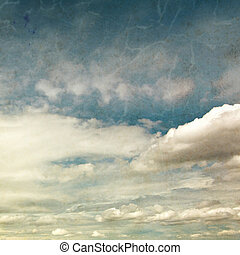 Romantic vintage background with clouds