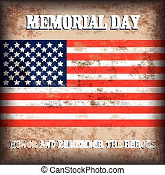Vintage Background US Flag Memorial Day