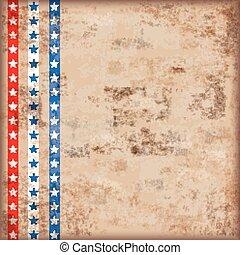 Vintage Background US Flag Stripes