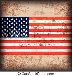 Vintage Background US Flag