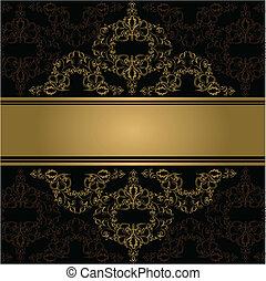 Vintage background. Vector. victorian golden ornament