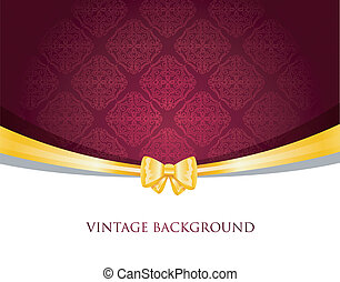 Vintage background with bow