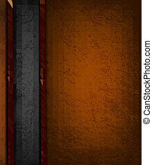 Vintage background with brown and black leather. Vector illustration.