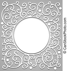 Vintage background with circle in the center of the image. Vector illustration.