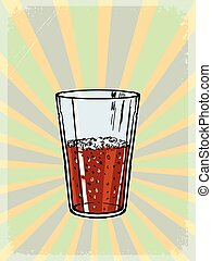 vintage background with cola