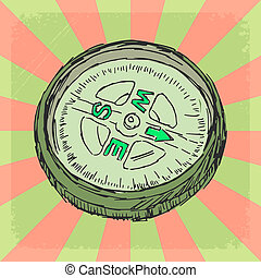 vintage background with compass