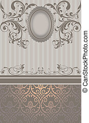 Vintage background with decorative frame.