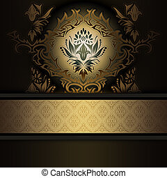 Vintage background with decorative patterns.