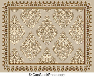 Vintage background with decorative patterns.