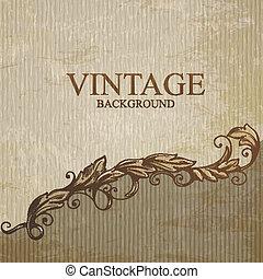 Vintage background with design elements