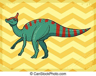 vintage background with dinosaur