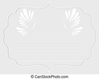 Vintage background with doves