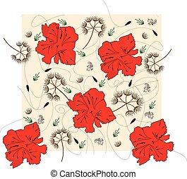 Vintage background with elegant abstract floral design