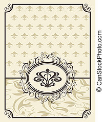 vintage background with floral frame