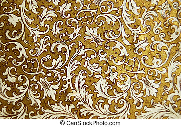 vintage background with floral patterns