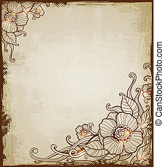 Vintage background with flowers