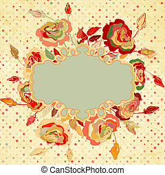 Vintage background with flowers. EPS 8