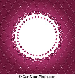 Vintage background with  frame vector illustration