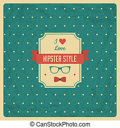 Vintage Background with Hipster Label