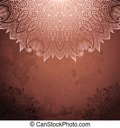 Vintage background with lace ornament