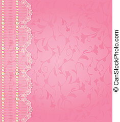 background with lace ornaments .