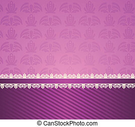 background with lace ornaments