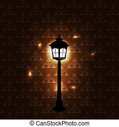 Vintage background with lantern vector illustration