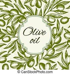 Vintage background with olives
