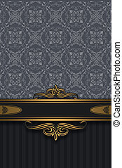 Vintage background with ornament and decorative border.