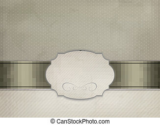 Vintage background with ornament frame Vector illustration.