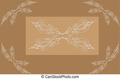 Vintage background with ornamental