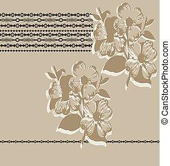 Vintage background with ornate elegant abstract floral design
