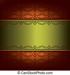 Vintage background with pattern and decorative ornament