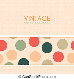Vintage Background with Polka Dots Pattern